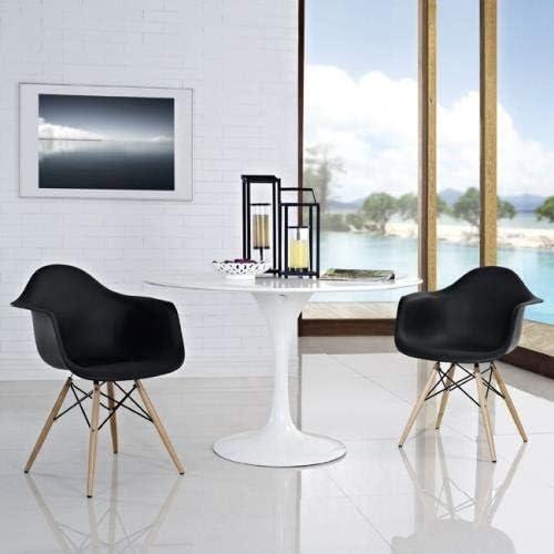 QLS Chaise de bureau moderne Noir