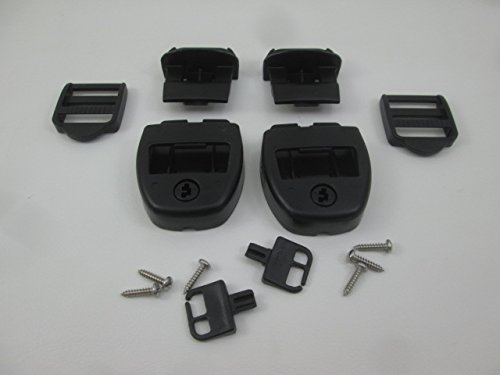2X Spa Hot Tub Cover Latch Strap Repair Kit & Key Hot Spring Caldera Video How To (Down Spa Tie Cover)