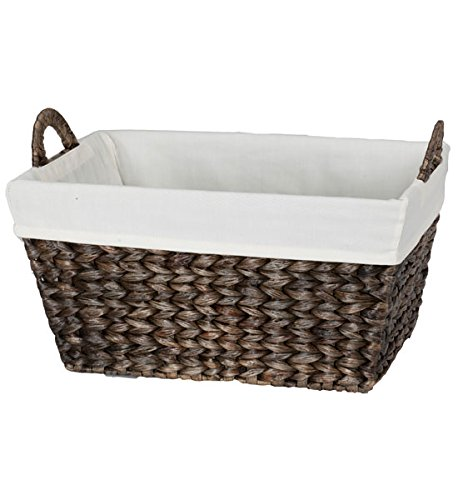 Creative Bath Products Tahiti Breeze Series Towel Basket, Golden/Silver
