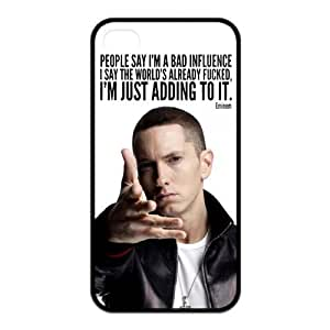 Hiphop Rap Singer Eminem Design TPU Back Cover Protective Skin For Iphone 4 4s iphone4s-91733