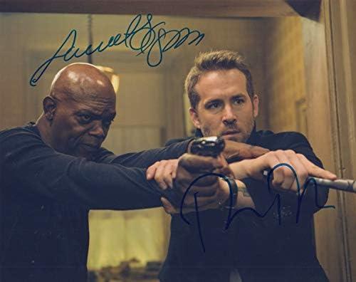 The Hitmans Bodyguard signed 8x10 photo Ryan Reynolds /& Samuel L. Jackson
