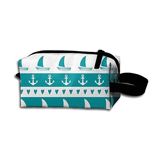 Anchor Sailboat Hear Pencil Pen Case Cosmetic Makeup Bag Cool (Plain Boat Mold)