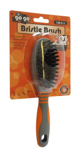 GoGo Pet Products Deluxe Bristle Pet Grooming Brush, Small -