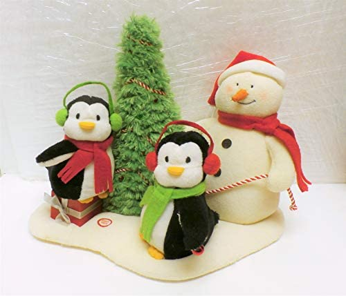 Hallmark Very Merry Trio Singing Snowman with Penguins Singing Jingle Pals 2006 by Hallmark