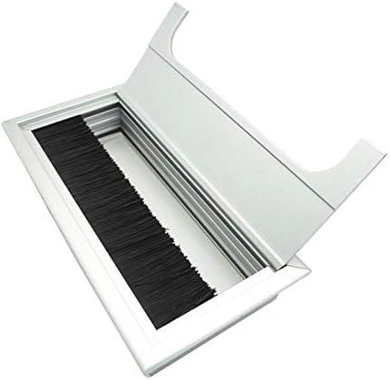 ホームデコレーション ブラシで8x16cmデスク防塵アルミワイヤーボックススレッディングボックス 家具の足