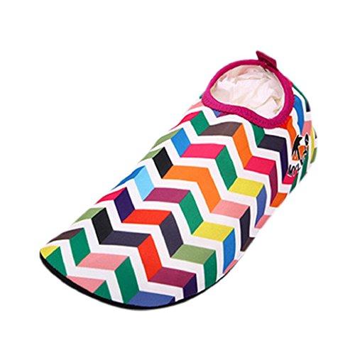Snorkeling Shoes Diving Beach 3 Swim Flippers Pool Men Sand Elevin Socks Women Surf Water Red TM znqIP