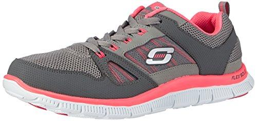 Skechers Sport Women's Appeal Fashion Sneaker,Charcoal/Hot Pink,6.5 M US
