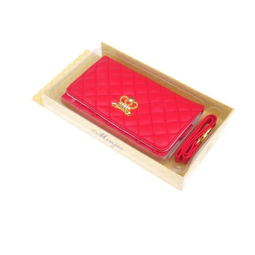 BestDealUSA Fashion Nice Red Crown Wallet Style Case Pouch For Apple iPhone 4 4S