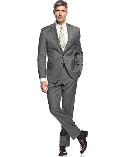 Ralph Lauren Men's Wool Grey Pinstripe Suit 46 Long Pants (Ralph Lauren Pinstripe Suit)