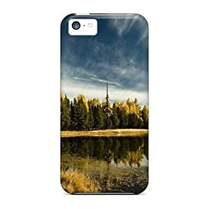 MMZ DIY PHONE CASEHot Fashion HKc1807gvfX Design Case Cover For iphone 5/5s Protective Case (lake In Early Fall)
