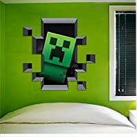 Latest Game Minecraft Enderman Wall Stickers Home Decor Minecraft Wallpaper Party Decorations Decal Sticker on Wall…
