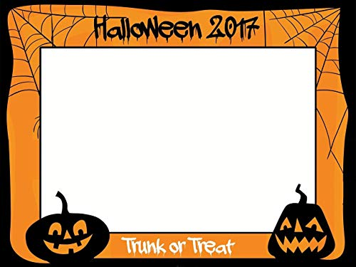 Large custom Halloween photo booth frame- Sizes 36x24, 48x36; Halloween Photo Booth Prop, Pumpkins, Halloween Decoration,Trick-or-treat,Halloween Party, Selfie frame]()