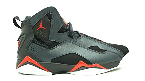 Nike Jordan Mens Jordan True Flight Black/Gym Red/Anthracite/Wlf Gry Basketball Shoe 10.5 Men US