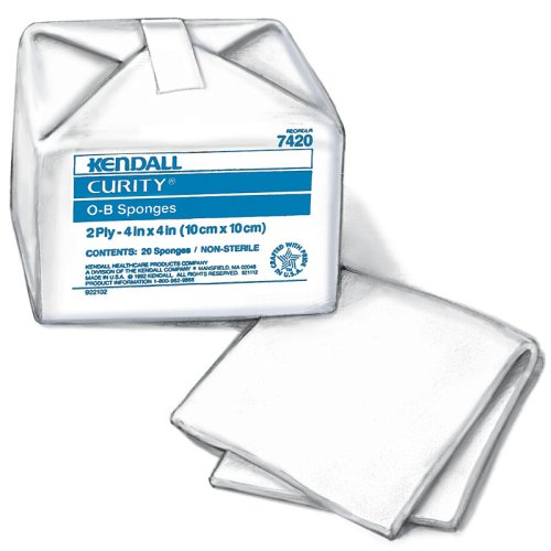 CURITY O-B Sponges, Cotton 4'' x 4'', Case (2818) by Curity