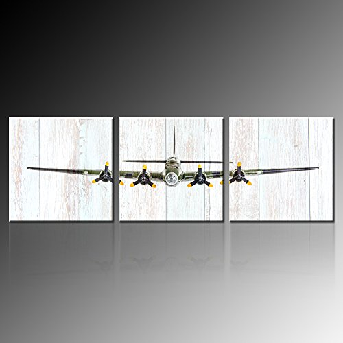 Kreative Arts Vintage Airplane B-17 Flying Fortress Bomber Plane Pictures Canvas Prints, Multicolor, 3 (Bomber Plane)