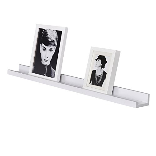 WELLAND Picture Ledge Photo Ledge Floating Wall Shelves, 36-inch, White