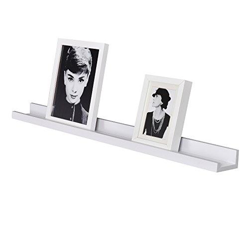 WELLAND Vista Picture Ledge Floating Ledge Wall Shelves, 36-inch, White