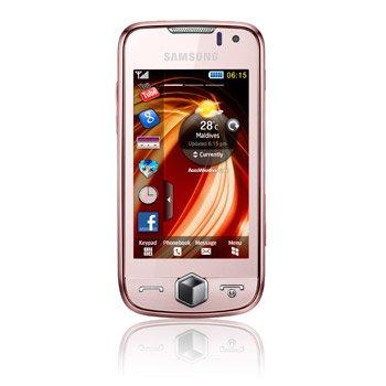 Samsung S8000 Jet Smartphone (Touchscreen, 5MP Kamera, WLAN, HSDPA) Peach Pink
