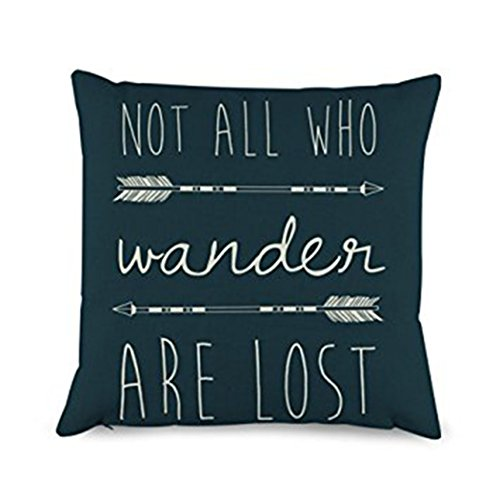 Decorbox Quotes with Arrow Throw Pillow Covers Decorative Po