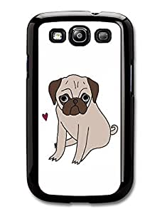 AMAF ? Accessories Funny Pug Illustration case for Samsung Galaxy S3
