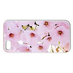 Spring Cherry Flowers - Case Cover for iPhone 5 and 5S (Flowers Series, Watercolor style, White)