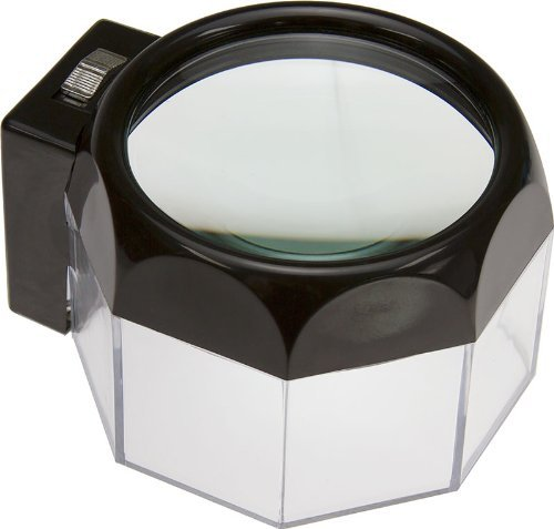 3.5X, ILLUMINATED 5' DIAMETER DOME MAGNIFIER by Hawk