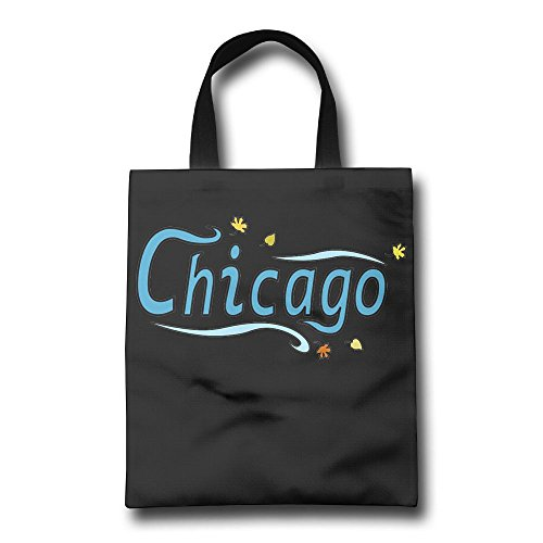 Chicago City Wrinkle Free Foldable Tote Eco Grab Bag With Handles Grocery Shopping Bags Perfect For Shopping,Laptop,School - Stores Downtown Chicago Shopping