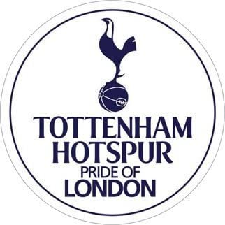 Ps6968 Tottenham Hotspur Pride Of London Round Small Vinyl Sticker Amazon Co Uk Kitchen Home