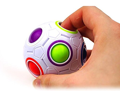 Stress Cube Reliever (Kid/Adult Magic Rainbow Fidget Toys Ball Cube 3D Puzzle Brain Teaser Stress Reliever)