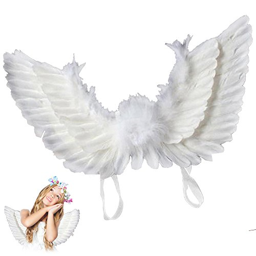 Fanatical Purchase Christmas Angel Costume for Women Girls Accessory Kit (Girl, White)