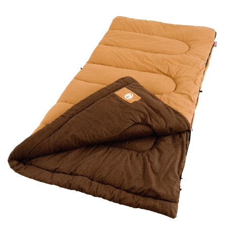 Coleman Dunnock Cold Weather Adult Sleeping Bag 2 Adult sleeping bag for camping in cold temperatures as low as 20 degrees F Can accommodate most people for heights up to 6 feet 4 inch tall Fiberlock construction, cotton cover, soft cotton flannel liner, and Thermolock draft tube for warmth and heat retention
