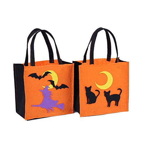 Holloween Candy Bags for Kids 2PCS Non-woven Fabric Party Favors Boxes Packaging (Holloween Minions)