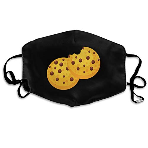Mouth-Muffle Face Mask Unisex Biscuits Cookies Adjustable Washable Anti-dust Woman Mens -