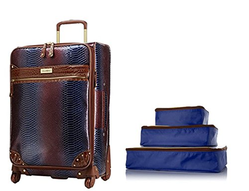 Samantha Brown Ombre Luggage Set - 25'' Upright and 3 Packing Cubes - Royal Blue by Samantha Brown