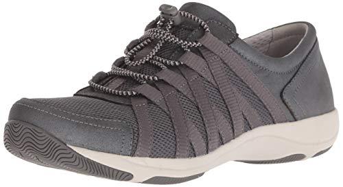 Dansko Women's Honor Sneaker, Charcoal/Metallic Suede, 38 M EU (7.5-8 US)