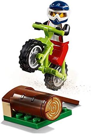 LEGO Outdoor Adventure Minifigure: Female Trail Cyclist (with Dirt Bike & Helmet) 60202