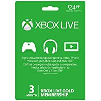 Microsoft Xbox Live 3 Month Gold Card (Version USA) - Importada Edition