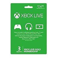 Microsoft Xbox Live 3 Month Gold Card (Version USA) - Importada Edition