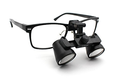 Featured on ''Bones'' -- Schultz Dental Surgical Medical Binocular Loupes -- 3.0x Power -- Flip Up Silver Titanium Frame by Schultz Loupes