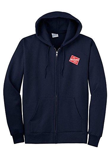 Milwaukee Road Zippered Hoodie Sweatshirt Navy Adult L [08] ()