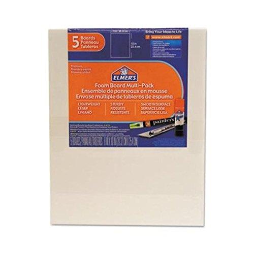 Elmer's® The Amazing FOAMBOARD 8x10in 5PK WHT 8/BX (BX) x Quantity of 1