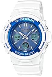 Casio G-Shock AWGM100SWB-7A WHITE AND BLUE SERIES Watch Ana-Digi Tough Resin