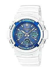 Casio Men's G-Shock AWGM100SWB-7A White Rubber Quartz Watch
