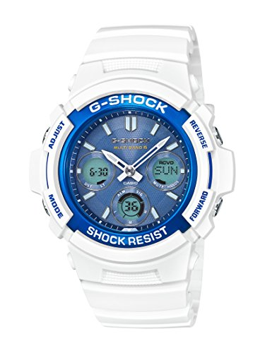 Casio G-Shock AWGM100SWB-7A WHITE AND BLUE SERIES Watch Ana-Digi Tough Resin ?