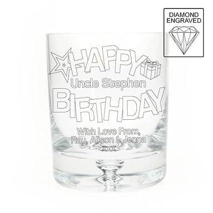 Vaso de cristal con grabado personalizable whisky de vasos de cristal con texto en inglés y