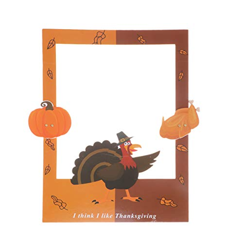 Amosfun Thanksgiving Party Photo Frame Photo Booth Props For Party Turkey Party Decoration Supplies (Turkey Picture Frame)