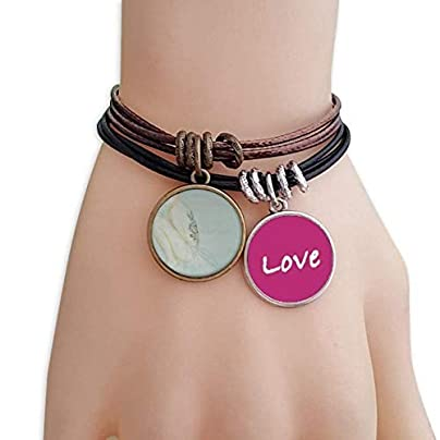FerryLife Beauty Mask Chinese Style Watercolor Love Bracelet Leather Rope Wristband Couple Set Estimated Price £9.99 -