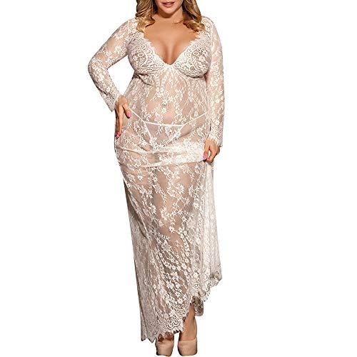 Sexy Women Negligee Nightie Lingerie Lace Beautiful Black Lingerie Long -