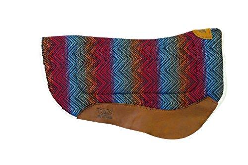 (Weaver Leather All Purpose Contoured Barrel Saddle Pad, Red/Multi)