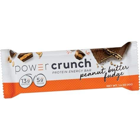 Power Crunch High Protein Energy Snack 1.4-Ounce Protein Bars 20 Count (20 Peanut Butter Fudge)